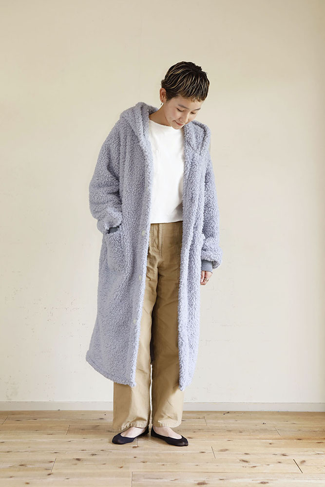 着る毛布 ロング丈 Mサイズ 女性 ライトグレー