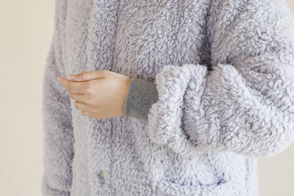 着る毛布 ロング丈 袖部分