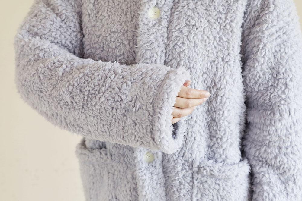 着る毛布 ショート丈 袖部分