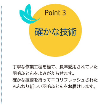 ポイント3:確かな技術